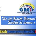 @CNELoja rinde homenaje a nuestro Escudo Nacional. http://t.co/22jjNM6M12