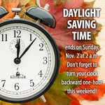 Dont forget to turn your clocks back this weekend! http://t.co/QHzYIhUibD