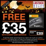 Last 2hrs - Book a service b4 5pm & we will TREAT you to new Bosch Wiper (Worth upto £35) NO TRICKS! #bolton http://t.co/cGmlBma3aC