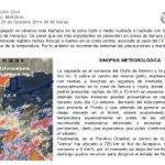 Boletín Meteorológico del 31 de Octubre de 2014 http://t.co/dSOSFcvFDm