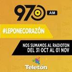 Esta noche desde las 21:00 y mañana todo el día nos sumamos a la #Radiotón #PoneleCorazón @TeletonParaguay http://t.co/Agpq5ASdAF