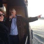 Adj. Havenmeester Hiemstra legt in IJhaven vol vuur uit dat @sailamsterdam  2015 de grootste en mooiste ooit wordt! http://t.co/cYDt4j8WSs