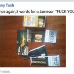 #JamesonLiveKe Facebook page is literally ablaze and i quote him FUCK YOU JAMESON #SomeoneTell2Chainz http://t.co/20hQxPT4FO