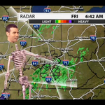 A weatherman green-screened himself into a skeleton and OMG you need to see it http://t.co/wrwc5ke70Q http://t.co/LlPRMy0az1