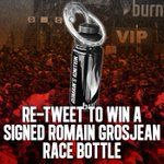 RT to #WIN! A @RGrosjean #F1 race bottle signed by the man himself! #LWYBF #USGP @Lotus_F1Team http://t.co/S2QCR12ZvS