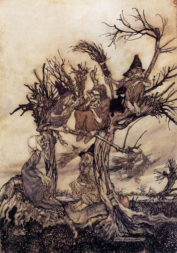 The Witches' Meeting c. 1930 [Arthur Rackham] http://t.co/ReTspSwFJ9