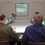 Alc @FredysSocarrasR junto al Gral @GrGustavoMoreno y Cmdte Policía Cesar en videoconferencia con Pdte @JuanManSantos http://t.co/OVBMhsIAdk