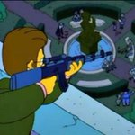 """""""Francotirador disparó en el barrio de Las Cañitas"""". Como siempre, amigos, todo está en Los Simpsons. http://t.co/Pbg1MbW5q3"""