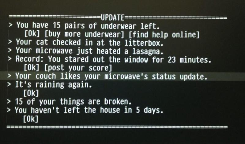 Love this. Status updates from the Internet of Things. Can't wait. http://t.co/GRB9Slur9n (via @jakeboxer) #IoT