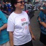 Diputada Ligia Fallas se une a la manifestación con Sintrajap http://t.co/Y3mYJ96bvz