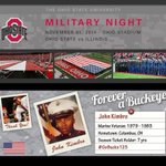 Military Night Sat. in #TheShoe! Look 4 graphics saluting those who have served running on the video board. #GoBucks http://t.co/cNh6j2PrM2