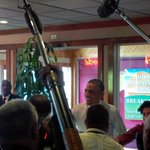Did they give him a balloon? MT @agreilingkeane: Obama visits Greggs restaurant in Providence with Raimondo. http://t.co/FPD9LmYWOv