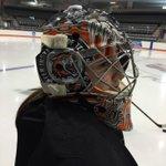 @RITWHKY @alibinnington showing off her new mask before tonights @CHAWomensHockey game vs. @LU_Lions #RIT #RITNews http://t.co/7Iyhkw3NHZ