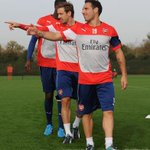 PICTURES: @Arsenal squad train ahead of #AFCvBFC - http://t.co/EQ99AptCnP http://t.co/vD2hE5Y0bg