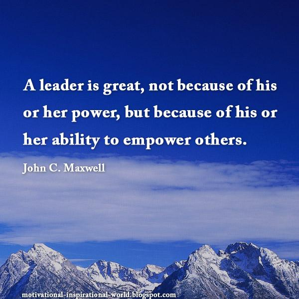 RT @InspiringThinkn: A leader is great..... John C. Maxwell #quote http://t.co/t9ww3ygIC6