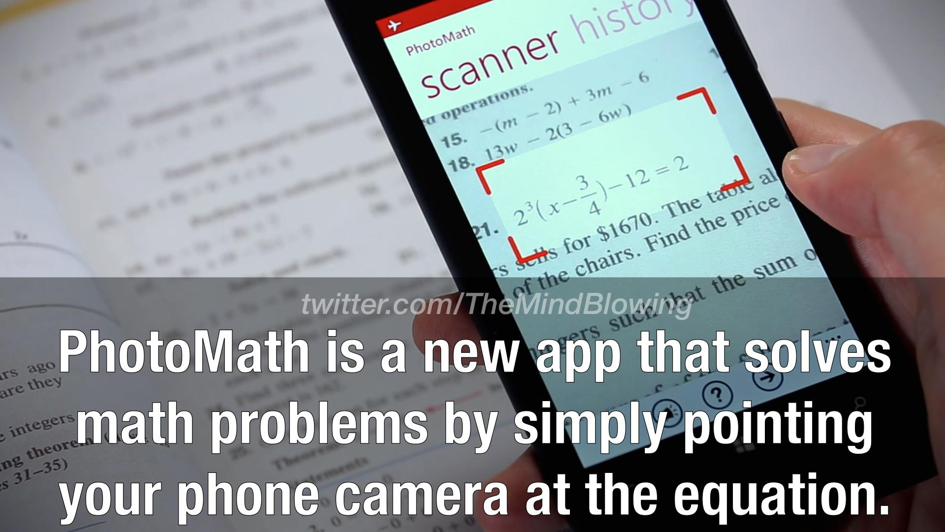 Have you heard about the 'Photo Math' yet? http://t.co/gg9qBeA9Cm