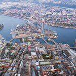 Stockholm from above. Norrmalm, the Old Town and Södermalm. http://t.co/azIFgoyK2H