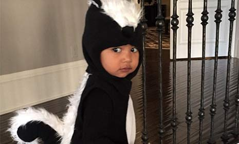 We loved little Nori's Halloween costume! @KimKardashian