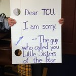 Working on some signs for @CollegeGameDay! Here is one for my friends at @TCU_Athletics. http://t.co/IVJw0wm3wY