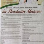 El MT convoca a Concurso de Declamación Individual con el tema La Revolución Mexicana @CDE_PRI_Durango @MT_Nacional http://t.co/Ra4NmLDwqC