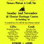 This Sunday 2nd Nov its Gifts & Grub @DiscoverElsecar - delicious food & gorgeous gifts on sale! #sheffieldissuper http://t.co/ddYOZzraq1