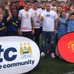 Di Maria, Rojo & Zabaleta did some coaching at Manchester College Ardwick @MU_Foundation @citctweets #mufc #mcfc http://t.co/yZcgPiaJTM
