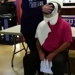 Pres. Benedetto was pied in the face for the @AveraMcKennan Breast Cancer Institute's wig salon!$1,225.92 was raised! http://t.co/zdujpIyLho