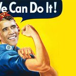 President Obama Channels His Inner Rosie The Riveter http://t.co/ys6smPU9zt http://t.co/YwszQdGN3K