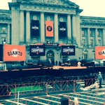 Final Stage preparations around the Orange Carpet @ the site of @SFGiantsFans #WorldSeriesChampions Ceremony! http://t.co/LRRQu0tGwl