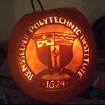 Trick or Tweet! Rensselaer pumpkin carved by one of our multi-talented #RPI students. Happy Halloween! http://t.co/gquQlQZ9O5