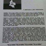 Con panfleto amenazante las FARC declaran objetivo militar a 3 alcaldes de Córdoba. Inaceptable. @mindefensa http://t.co/0YDsn7Q18J
