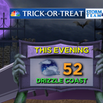 Mostly a treat, with a little tricky drizzle along the coast tonight: #candy #nyc #halloween http://t.co/Yyb3his3kt