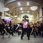 Cardiff Central is packed...with the undead! #Thriller http://t.co/vpqgxYTvdu