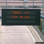 PHOTO: @MassDOT is honoring former Boston Mayor Tom Menino on their message boards. http://t.co/gfRpqXIkd0