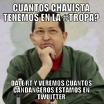 DALE RT Y LOGREMOS SABER CUANTOS CHAVISTAS DE VERDA ESTAMOS EN LA TROPA #AliEnElAlmaDelPueblo #YoDefiendoMiFANB http://t.co/8WRReyOT4w