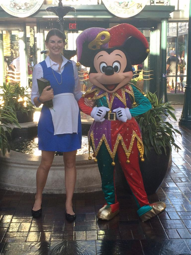 Mickey Mouse meeting guests for Halloween at Port Orleans: http://t.co/hkmhYhXhBC