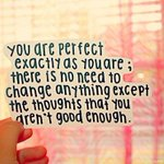 You are perfect exactly as you are; there is no need to change anything except the ..  #quote #quoteoftheday http://t.co/VIQocC86P2