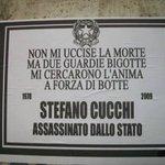 Non mi uccise la morte ma due guardie bigotte mi cercarono lanima a forza di botte Stefano #Cucchi http://t.co/IzXCx0sOkl