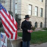 We now have an authentic Kansas reenactor giving out candy http://t.co/t0BngiMNm1