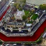 Approaching the full display of 888,246 poppies .....Every one a precious WW1 life lost. #LestWeForget #TowerPoppies http://t.co/RGYQddDFui