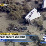First images of @virgingalactic #SpaceShipTwo debris site starting to come out via @ABC7 chopper http://t.co/HS27QrKw03