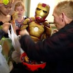 Princesses and Superheros from Westminster Elementary visit residents at St. Therese Villa for early treats #yql http://t.co/Ee0R80HBm2