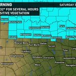 Thrills & CHILLS! Freeze Warning in effect Saturday 3-9am for areas mainly N of DFW including Collin & Denton County: http://t.co/sr8hWbQrV3