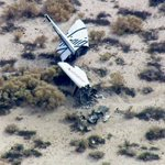 Debris from Virgin Galactics #SpaceShipTwo following accident in Mojave Desert http://t.co/iPFykUL9XF http://t.co/r07Ps7SKB9