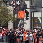 Apparently Wolverine is an @SFGiants fan, climbed up light pole for a better view of #WorldSeries Parade #KTVU http://t.co/KIuXFnO9yx