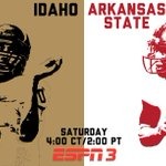 Saturday in the Kibbie Dome @RedWolvesFBall vs. @Idaho_Vandals http://t.co/9oiCK6SD36