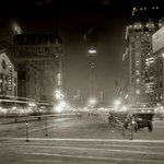 Sign of the Times is Brightly Lit in Times Square, Astor Theater on Right, New York, 1911 (Shorpy) | #NYC #NY http://t.co/uokUPXxLwV