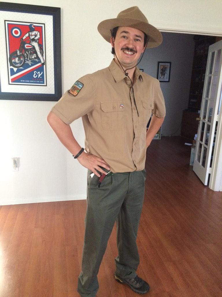 going as bill napier head park ranger this year for halloween. how's