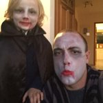 He convinced dad to go with !! Happy Halloween. #TrickorTreat #draculax2 http://t.co/mjv8XcSeh3