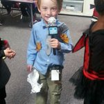 My 5-yr old son is a weatherman for Halloween this year! #JoeDoingWork #winning #trickortreat #MySweetBrick http://t.co/M2p9CgncyY